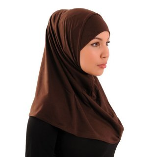 Amira hijab simple (100% cotton) chocolate