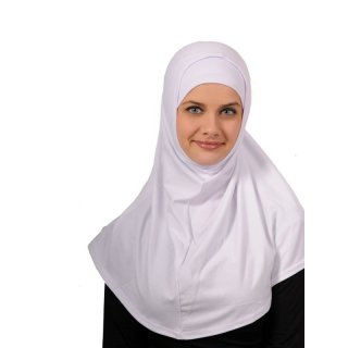 Amira hijab simple white