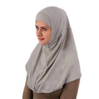 Amira Hijab simple Lycra hellgrau