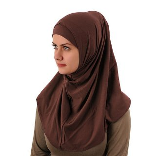 Amira Hijab simple Lycra braun
