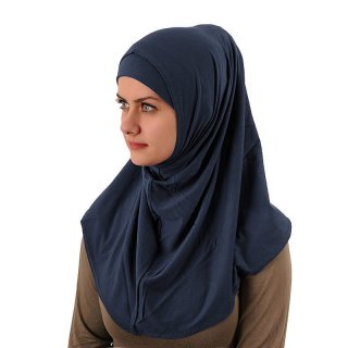 Amira Hijab simple Lycra marineblau