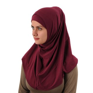 Amira Hijab simple Lycra bordeaux