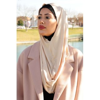TURBAN SNOOD DOUBLE KNOT BEIGE