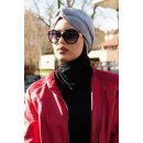 TURBAN SNOOD DOUBLE KNOT LIGHTGREY