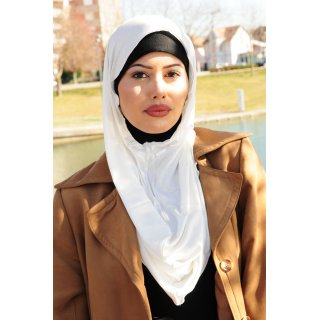 TURBAN SNOOD DOUBLE KNOT NATURAL WHITE